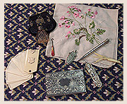 Some of the contents of a lady's reticule, or purse